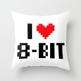 i (heart) 8bit Throw Pillow