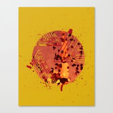 Polygons of a Photograph Canvas Print