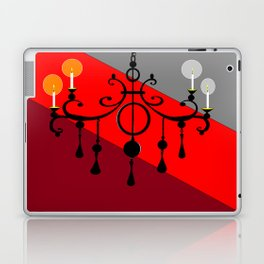 A Chandler with Candles and Red, Maroon and Gray Laptop & iPad Skin