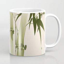 Oriental style painting, bamboo branches Coffee Mug