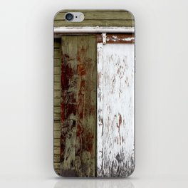 Green and White Door iPhone Skin