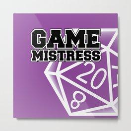 Game Mistress | Girl Game Master Metal Print