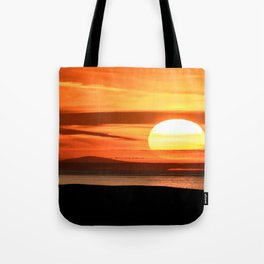 Isle of Anglesey View of Ireland Mountains Sunset Tote Bag