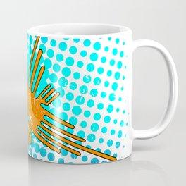 Distressed Nazca Lines Hummingbird On Gradient Blue Galaxy Coffee Mug