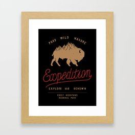 Bison Mountain Expedition Framed Art Print