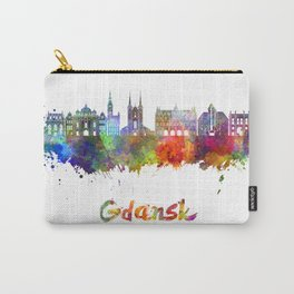 Gdansk skyline in watercolor Carry-All Pouch