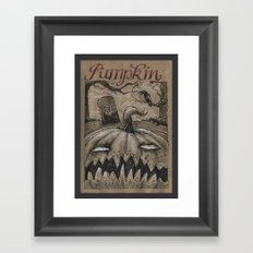 Pumpkin (Drawlloween 1/31) Framed Art Print