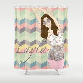 Layla Love Shower Curtain
