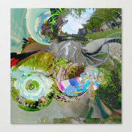 Virtual Surreality Monad 4D View No. 1 by Oli Goldsmith Canvas Print