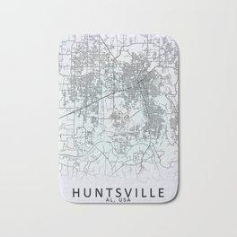 Huntsville, AL, USA, White, City, Map Bath Mat