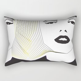 Portraits. Two Marilyns. Rectangular Pillow