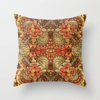 turkey Throw Pillows featuring Turkey Feathers by Lyle Hatch