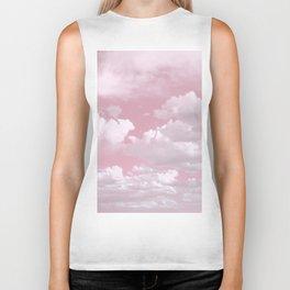 Clouds in a Pink Sky Biker Tank