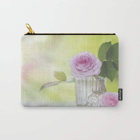 Rose love - Floral Roses Vintage Stilllife - Flowers Carry-All Pouch