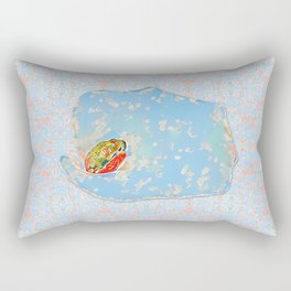 Flower Frog Rectangular Pillow