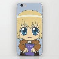 shingeki no kyojin iPhone & iPod Skins featuring Shingeki no Kyojin - Chibi Armin Flats by Tenki Incorporated