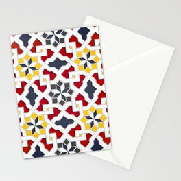 Traditional oriental pattern design -  geometric mosaic style Stationery Cards
