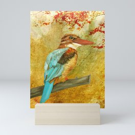 Autumnal Kingfisher Mini Art Print