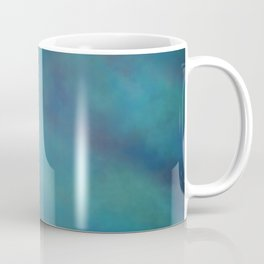 Abstract Soft Watercolor Gradient Ombre Blend 14 Teal, Purple, and Black Coffee Mug