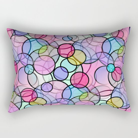 Pastel Circles Rectangular Pillow