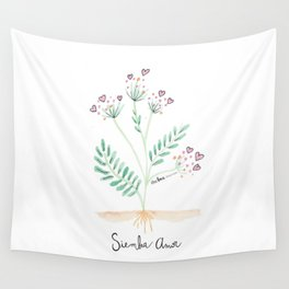 Siembra Amor Wall Tapestry
