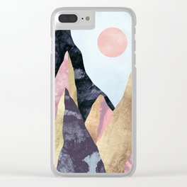 Mauve Peaks Clear iPhone Case