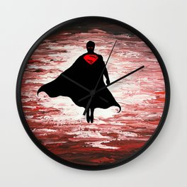 Superman unleashed Wall Clock