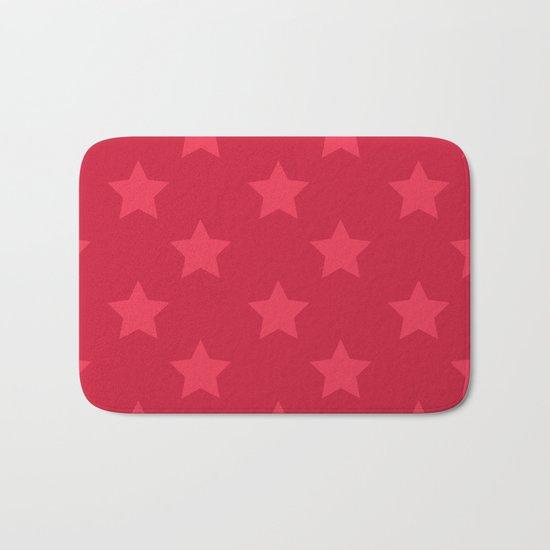 Red stars Bath Mat