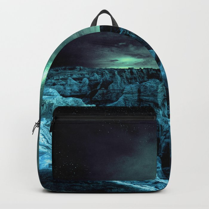 galaxy mountains teal Backpack