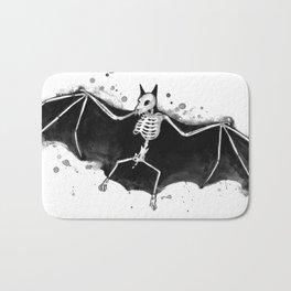 Skeletal Bat Bath Mat