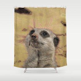 Adorable Meerkat Shower Curtain