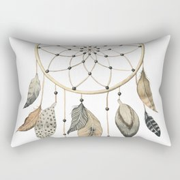 Dream Catcher Brown Rectangular Pillow