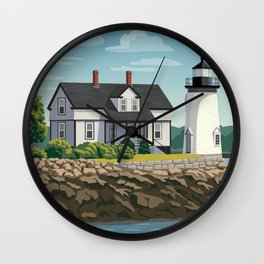 Prospect Harbor Lighthouse Wall Clock