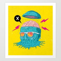 Head Melt Art Print