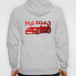 Mazda 3 - classic red - Hoody
