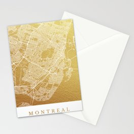 Montreal map, Canada Stationery Cards