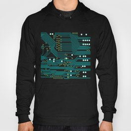 Dark Circuit Board Hoody