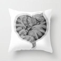 Cuddling Cats Throw Pillow