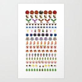 Clash of Pixels Art Print
