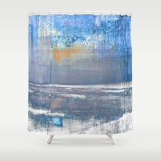 Blue Color Patches Shower Curtain