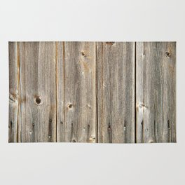 Old Rustic Wood Texture Rug