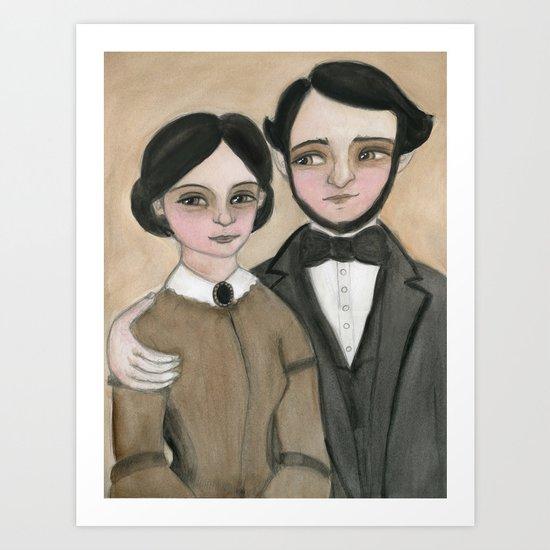 Victorian Couple in Love Art Print