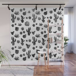 Cactus Succulents Pattern Wall Mural