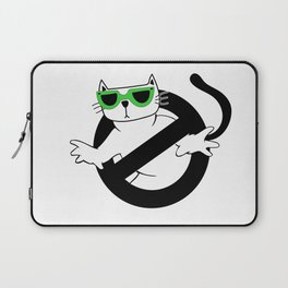Cat Thug Buster | Digital Art Laptop Sleeve