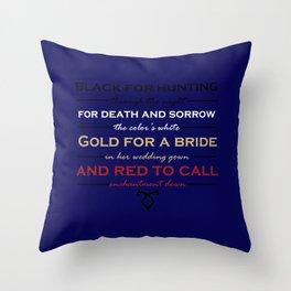 Shadowhunter Nursery Rhyme Throw Pillow