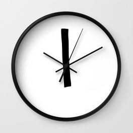L Monogram (Hand 2) Wall Clock