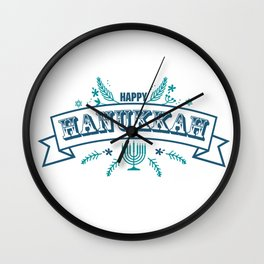 The first day of Hanukkah Wall Clock