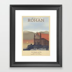 Retro Travel Poster Series - The Lord of the Rings - Rohan Framed Art Print