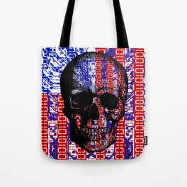 US Skull in a digital circuit. Tote Bag