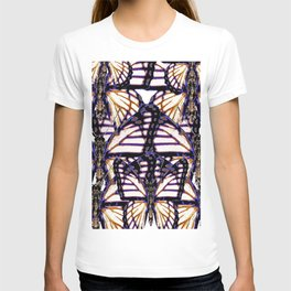 B&W  CONTEMPORARY MONARCH BUTTERFLY ABSTRACT T-shirt